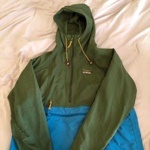 LL BEAN anorak women's half zip